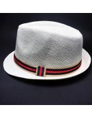 Chapéu Panamá - Faixa Tricolor