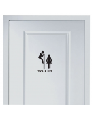 Vinil Autocolante Toilet / Casa de Banho