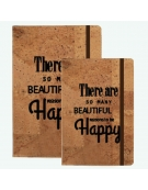 Bloco de Notas Cortiça - Happy