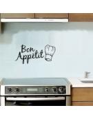 Vinil Autocolante Cozinha - Bon Appétit