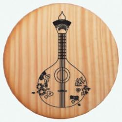 Base Copos Madeira - Guitarra Portuguesa