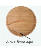 Tábua de Cozinha Madeira - Redonda Frase