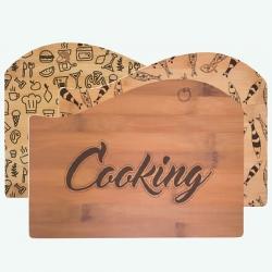 Conjunto 3 Tábuas de Cozinha Madeira - Rectangular