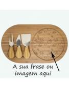 Tábua de Cozinha Madeira - Rectangular com talheres