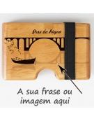 Porta Cartões Madeira