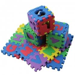Tapete Puzzle Letras e Números