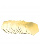Hexágonos Espelho Dourado