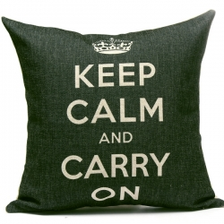 Capa de Almofada Keep Calm and Carry On